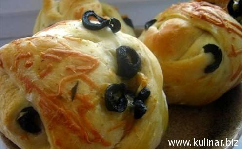 рецепт булочек с маслинами
