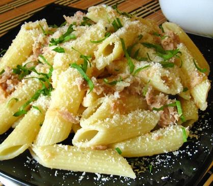 рецепт макарон с тунцом