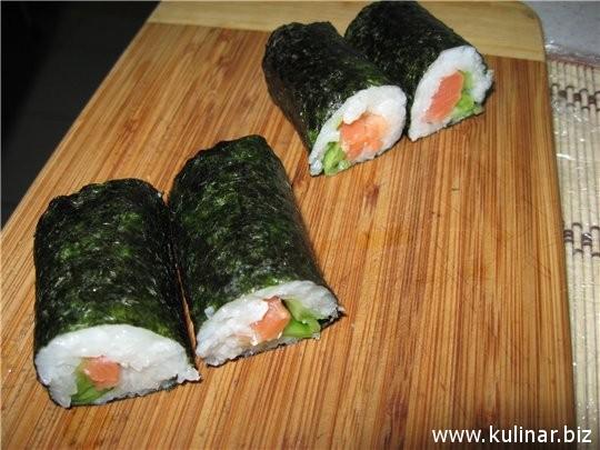 рецепт роллов с красной рыбой