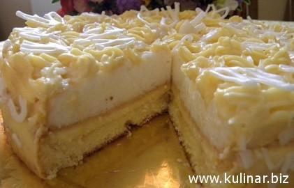 торт лимонный рецепт с фото