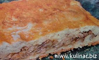 Грибной пирог - кулинарный рецепт