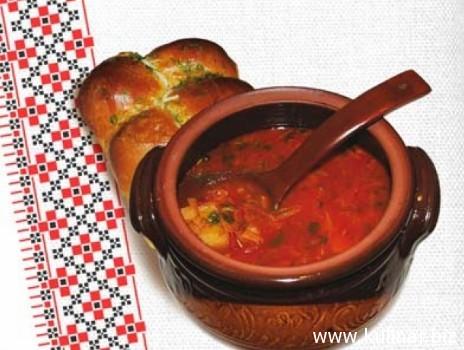 рецепт украинского борща с пампушками