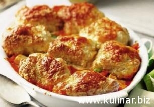 Куриное филе, запеченое с овощами