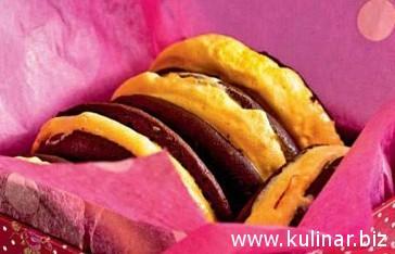 Шоколадные печенья с облепиховым суфле