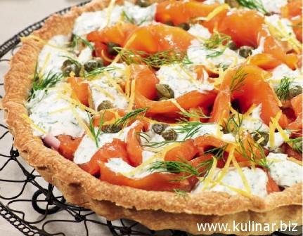 Рецепт пирога с лососем
