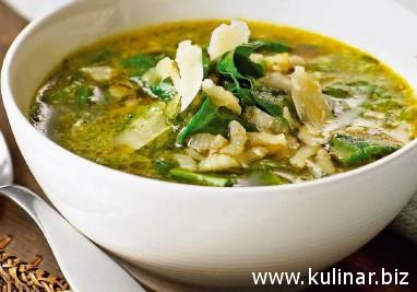 Рецепт рисового супа со шпинатом