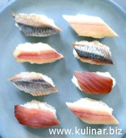 Суши с копченой рыбой