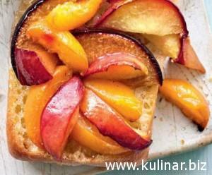 Брускетта с фруктами для пикника