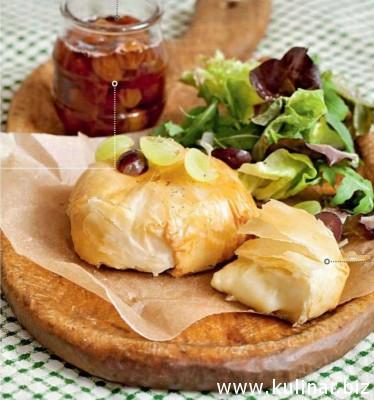 Сырные пирожки с виноградным джемом