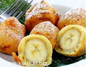 Бананы в кляре с медом