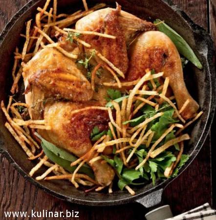 Цыпленок, запеченный в травах с виски
