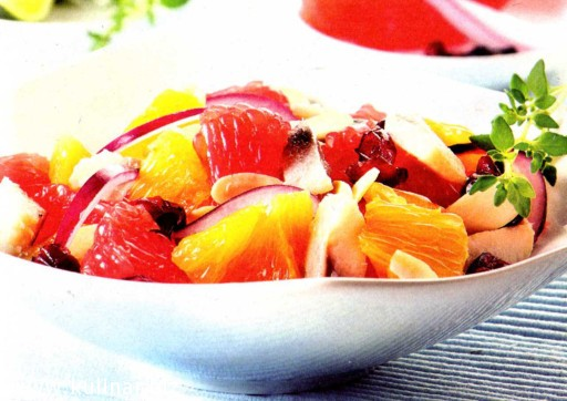 Салат из сельди с цитрусовыми
