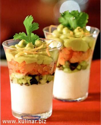 Веррин из авокадо и лосося