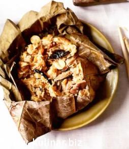 Рис в листьях лотоса рецепт