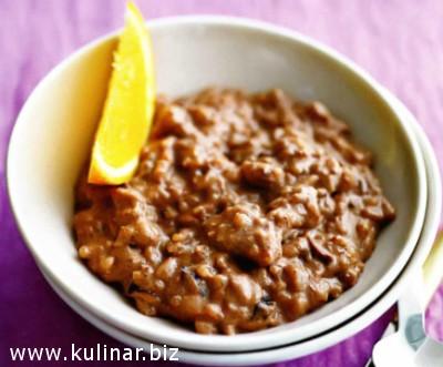 Шоколадный рисовый пудинг