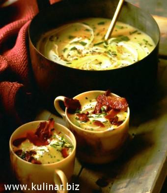 суп из печеного картофеля - рецепт