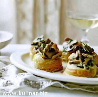 Волованы с грибным кремом - рецепт