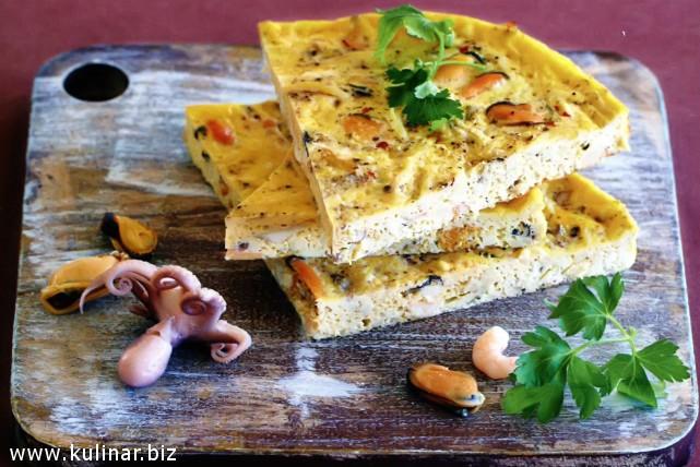 рецепт омлета с морепродуктами