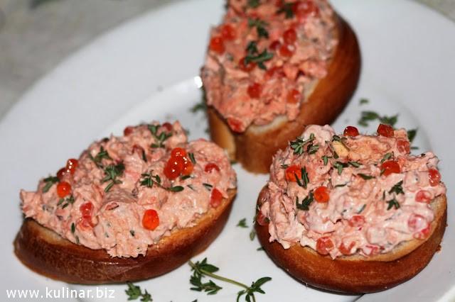 Рийет из копченого лосося - кулинарный рецепт