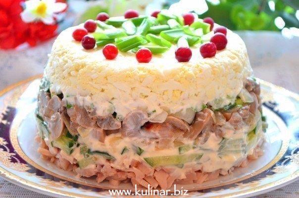 Куриный салат - рецепт