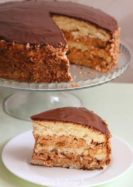 торт сникерс- кулинарный рецепт